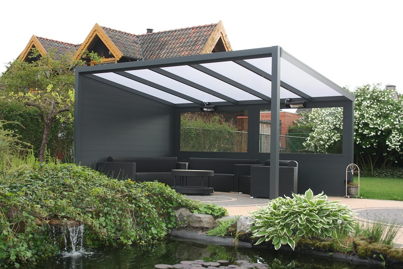 Add walls and you really can create a stunning and contemporary gazebo.  Available in Four standard colours or choose your own from the RAL system  of colours ... - STANDALONE Aluminium Gazebo Kit Explained – Tuin Information And Support